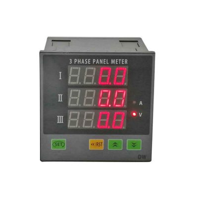 CHDW93 3 Phase LED Ammeter Voltage Panel Meter