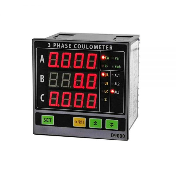 3 Phase Multifunction Curren Voltage Power Meter LED type