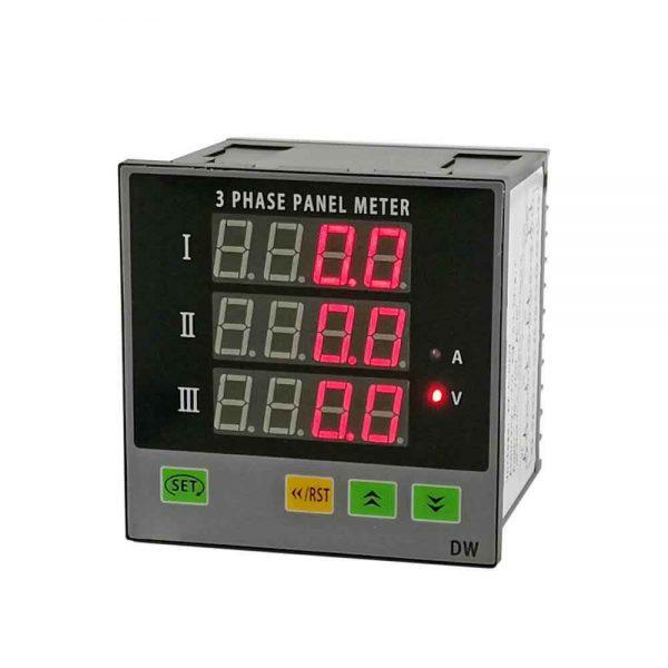 3-Phase-Ammeter-Voltage-Panel-Meter