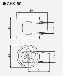 CHK-50 length counter sensor size