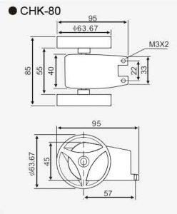 CHK-80 wheeled length sensor-size