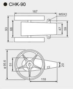 CHK-90 length counter sensor size
