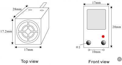 Square Rectangular Inductive Proximity Sensor Switch NPNPNP 10~30VDC WaterproofMetal Detector Sensor dimensions